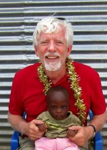 Me and little  Stewart Geddes at Osiri Village, Kenya.