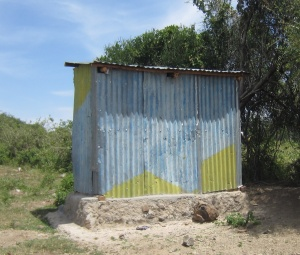 This unventilated latrine is the only toilet for the 500 people living in Osiri village.