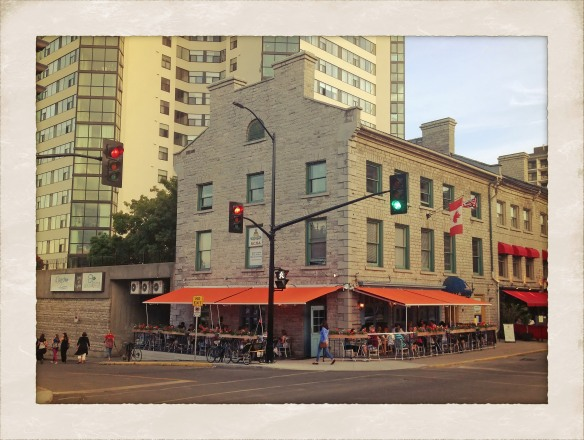 Lots of patio restaurants busy this evening.