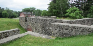 What's left of Fort George at Castine, Maine