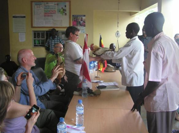 Canassist has had an ongoing relationship with the Olimai Clinic for the past three years. Here, some Canadian CanAssist supporters visit the clinic in 2012.