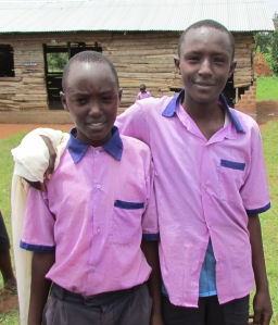 Christopher and his older brother, Edward at the Hope for Youth School in Uganda.
