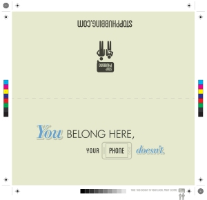 stop phubbing - wedding card - V1