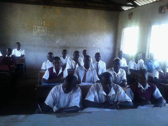Students at the Kamser Secondary School.  This school requests 20 individual desks.