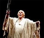 Legendary Canadian actor, William Hutt, at age 85, portrays Prospero in the 2005 Stratford Festival production of The Tempest.