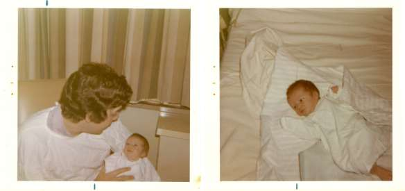 Holding my one day old daughter - November 10, 1973.  Top of the World.