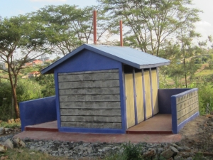 New  CanAssist-funded boys toilets at the Twiga School in Ruriru District. Kenya