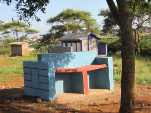 New hand washing station at the Twiga school, funded by CanAssist.  Handwashing has been shown to markedly reduce the spread of disease so it is an integral part of any school sanitation program.