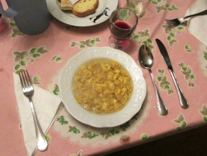 Last year's Easter dinner for me was Gloria's home-made tortellini.
