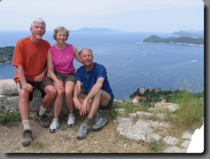 With Sue and Jim on Lopud, May 2005