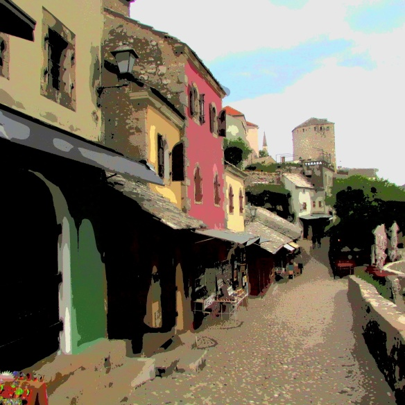 Street in old Mostar.