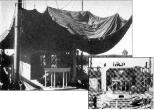 The first stage of the Stratford Festival in 1953