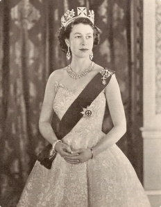 This photo of the newly crowned Queen Elizabeth II hung in every school classroom.
