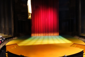The same stage prior to the opening of Crazy For You.