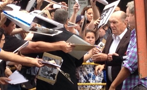 Robert Duvall signs autographs at TIFF 2014.
