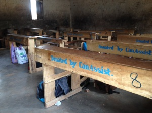 Desks at the Kamser Elementary school provide in 2014 by CanAssist.