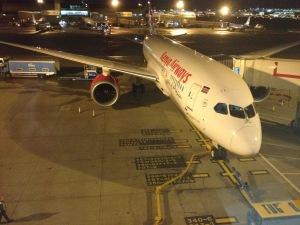 The new Kenya Airways 787 Dreamliner.