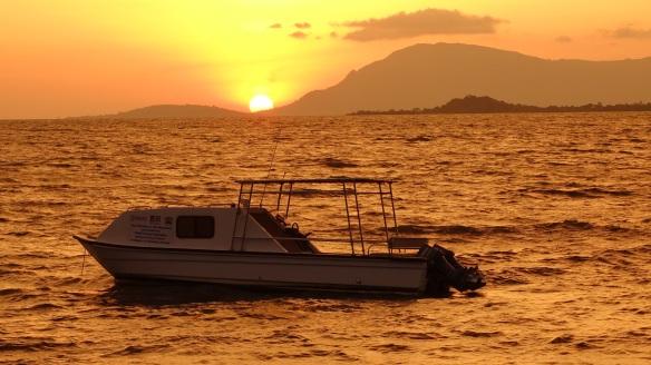 Sunset on January 22