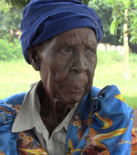 Josephine - October 2013.   Died March 18, 2014 at well over 100 years old. Olimai, Uganda.