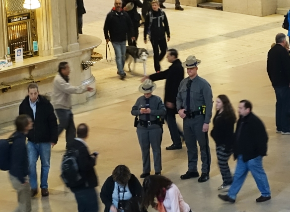 Cops in Grand Central Station