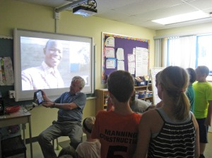 Last week, students at Glenburnie School chatted live online with CanAssist Field Representative Dan Otieno in Kenya. Dan was able to greet each one personally and thank them for their contributions to help the St Catherine School.