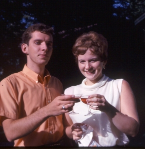 Barb and I in August 1968. Yes, folks, I was young once too.