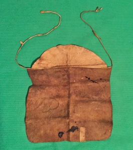 Leather masons apron belonging to James Stevenson mid 1800s
