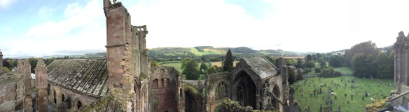 Melrose Abbey pano 1